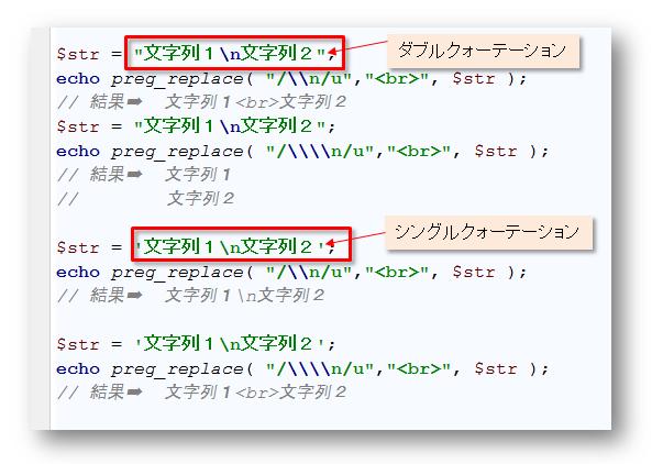 PHPの関数(preg_replace)にシ...